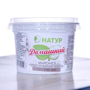 """Внешний вид товарной упаковки майонеза домашнего от компании ООО """"Натур"""""""